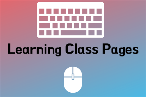 Learning Class Pages