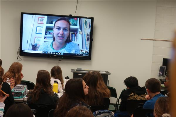 BHMS Seventh-Graders Skype with Arizona-Based Author
