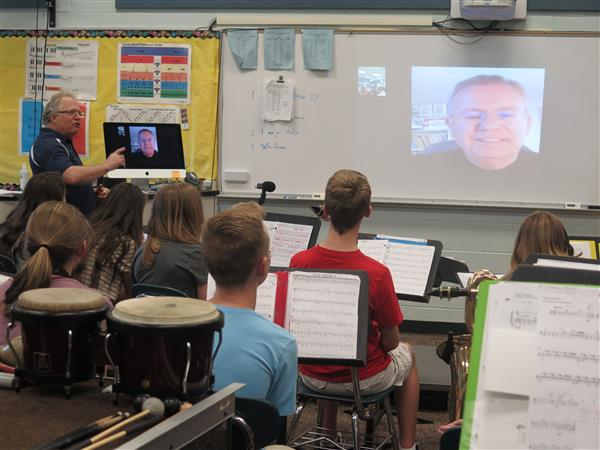 Composer Facetimes with BHMS Band Students