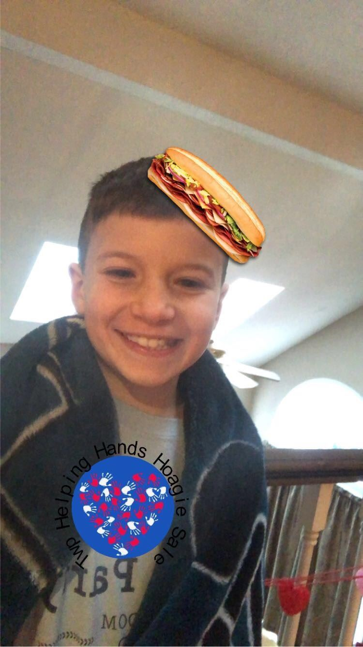 CRMS 7th Grader Uses Coding Skills to Create Snapchat Filter to Promote Helping Hands Hoagie Sale