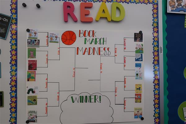 GTECC Kindergarten Students Host Classroom March Madness Tournament with Books, Not Basketball