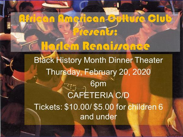 WTHS African American Culture Club Plans  7th Annual Black History Month Dinner Theater
