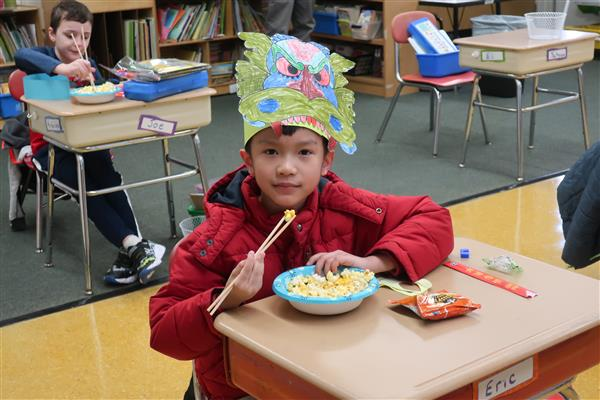 Hurffville Elementary Second Graders Celebrate  Chinese New Year