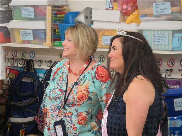 Courier Post Reporter Surprises Hurrfivlle Elementary Teacher