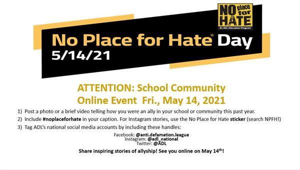 No Place for Hate Day