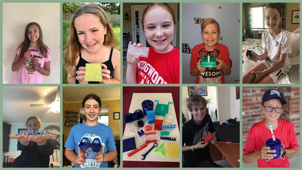 Hurffville and Wedgwood Elementary School ELEMEnTS Students Conceptualize, Create 3-D Projects