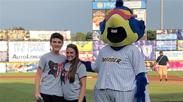 Student Essay Winner and OVMS Teacher Honored at Trenton Thunder Game