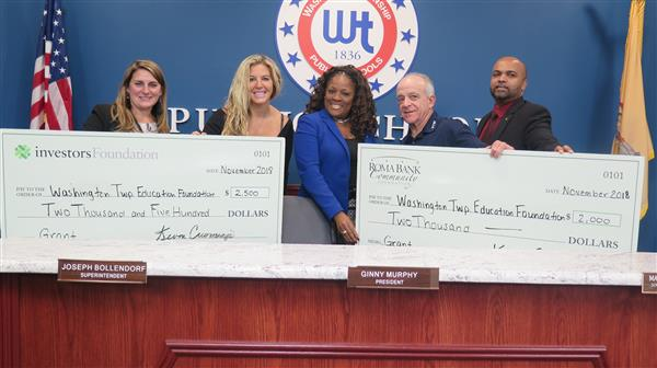 Investors and Roma Bank Community Foundations Present $4,500 in Grants to WTEF