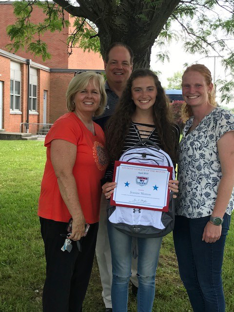 WTHS Senior Jeanine Morrow Named April 2019 Student-Athlete of Month