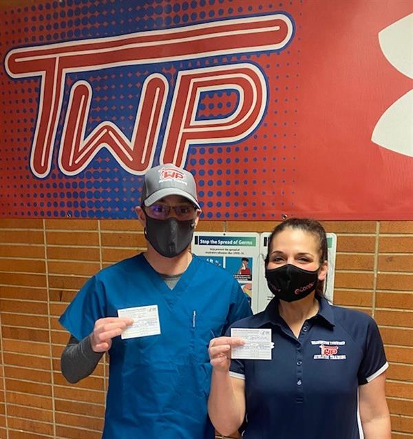 WTHS Athletic Trainers Receive COVID-19 Vaccines
