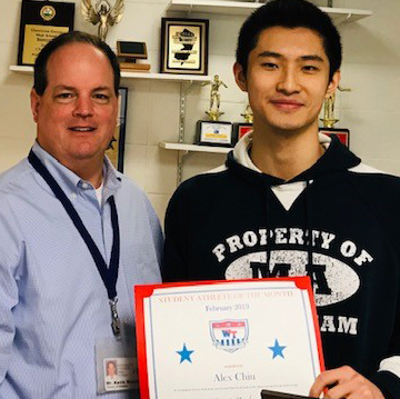 WTHS Senior Alex Chiu Named February Student-Athlete of Month