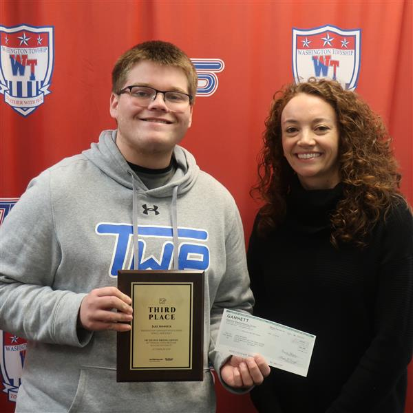 "WTHS Journalism Student Jake Minnick Takes Third-Place in GSSPA Spot Writing ""Write Off"" Competition"