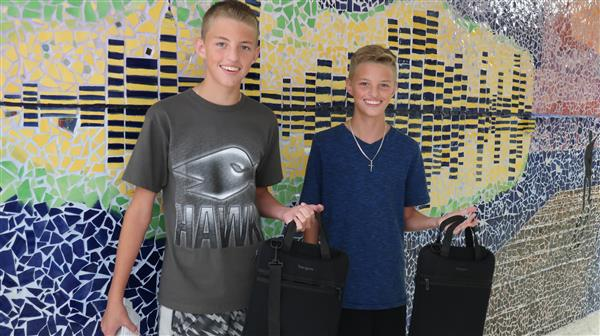 WTHS Freshmen Colllect New District-Issued Laptops in Preparation for 2019-20 School Year