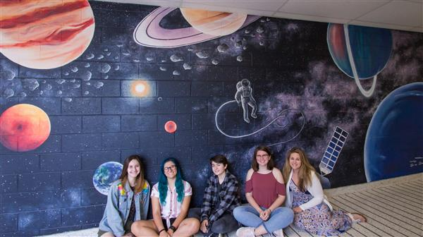 WTHS Art Students Unveil New Mural in School's Science Wing