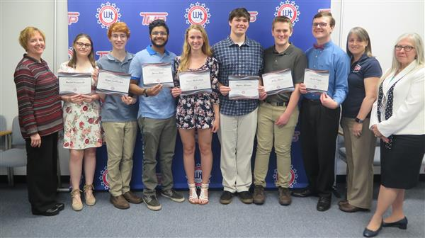 Board of Education Honors WTHS T.E.A.M.S. Members at May Meeting