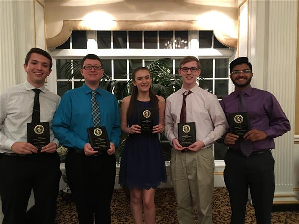 WTHS' Top Five Scholars Honored