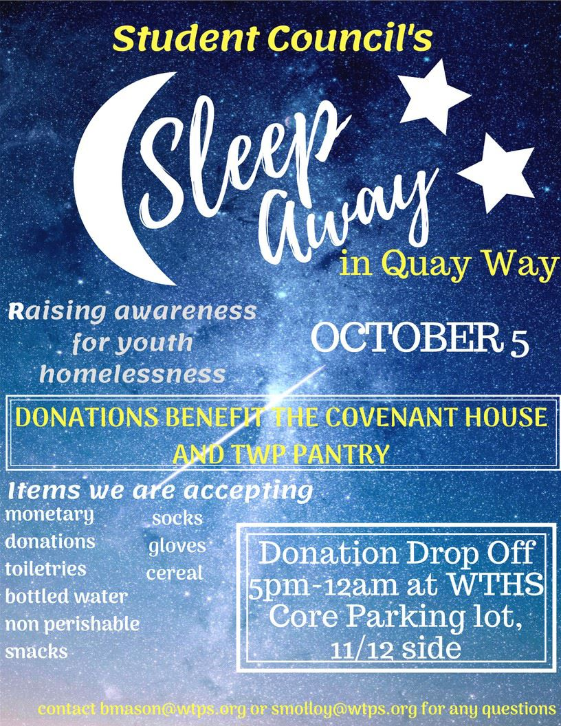 "WTHS Students Plan Second ""Sleep Away"""