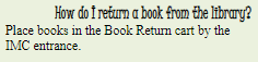 How to Return a Book