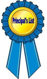 Principal's List 1st Marking Period